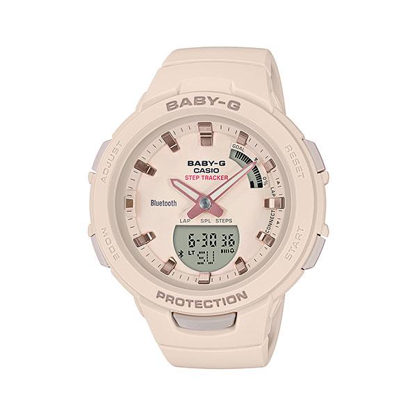 「マラソンポイント5倍」スマホと連携 歩数計付き 女性用 腕時計 カシオ ベビーG BSA-B100-4A1JF CASIO Baby-G デジアナ 国内正規品  取り寄せ品
