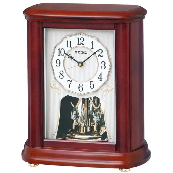 「スーパーセールポイント5倍」セイコー 電波時計 BY242B 置き時計 回転飾り付き SEIKO 文字名入れ対応、有料 送料無料 取り寄せ品