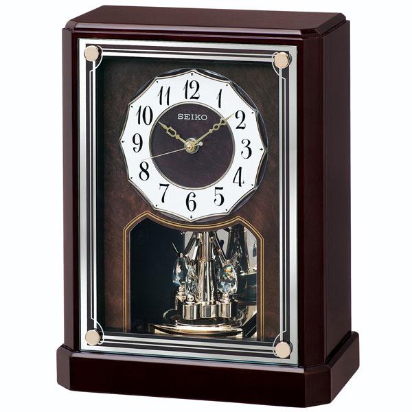 「スーパーセールポイント5倍」セイコー 電波時計 BY243B 置き時計 回転飾り付き SEIKO 文字名入れ対応、有料 送料無料 取り寄せ品