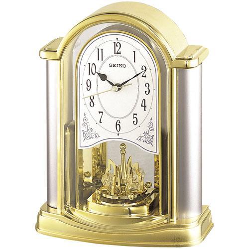 セイコー SEIKO 回転飾りつきテーブルクロック 置き時計BY418G 文字名入れ対応、有料 取り寄せ品