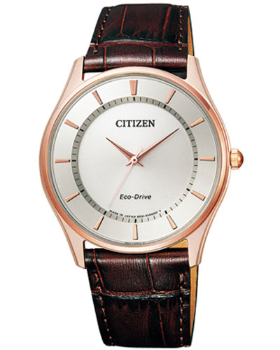 Citizen collection BJ6482-04 A leather band eco-drive solar watch CITIZEN men's case back to the mark for the pay back-ordered materials