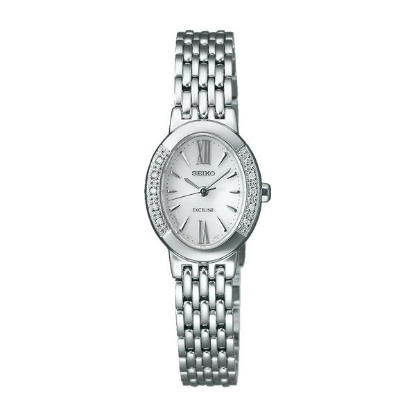 ソーラー女性用腕時計 セイコー ドレスウォッチ エクセリーヌ SWCQ047 名入れ刻印対応、有料 取り寄せ品 【コンビニ受取対応商品】