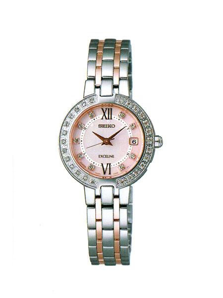 「マラソンポイント5倍」セイコー エクセリーヌ SWCW085 電波ソーラー 腕時計 レディース SEIKO EXCELINE 刻印対応、有料 取り寄せ品