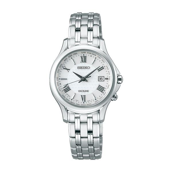 「マラソンポイント5倍」セイコー ソーラー電波時計 SWCW161 エクセリーヌ 女性用腕時計 SEIKO EXCELINE 刻印対応、有料 取り寄せ品