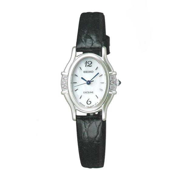 「マラソンポイント5倍」セイコー 女性用 腕時計 SWDX175 革バンド 電池時計 SEIKO エクセリーヌ EXCELINE 名入れ刻印対応、有料 送料無料 取り寄せ品 【コンビニ受取対応商品】