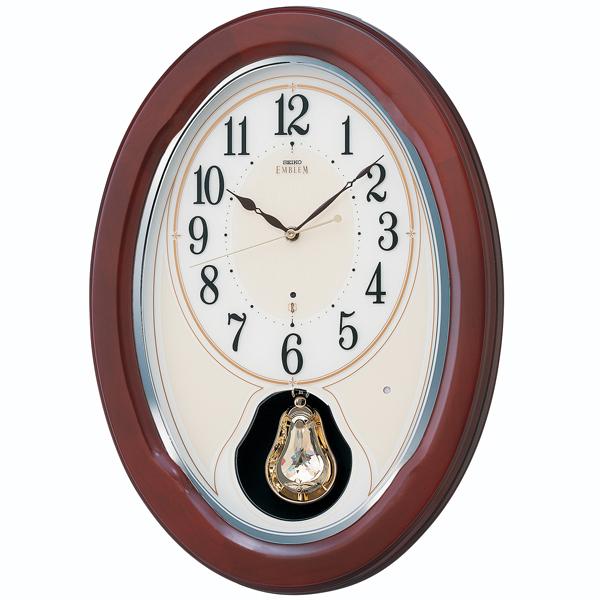 「スーパーセールポイント5倍」壁掛け時計 セイコー SEIKO メロディ 電波時計 エンブレム EMBLEM HS445B 文字入れ対応、有料 取り寄せ品