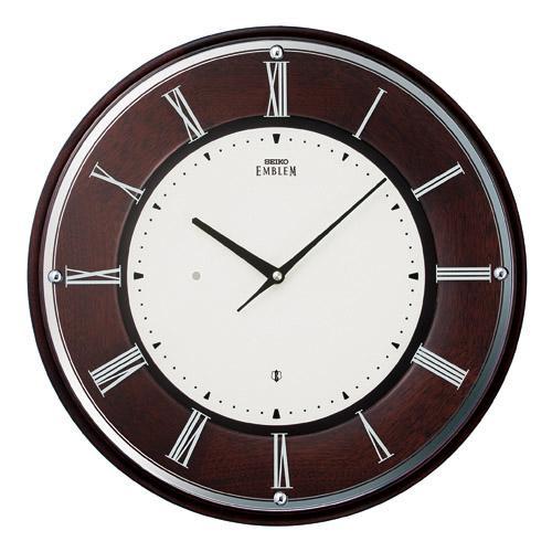 「スーパーセールポイント5倍」壁掛け時計 セイコー SEIKO 電波時計 エンブレム EMBLEM HS540B 文字入れ対応《有料》 送料無料 取り寄せ品