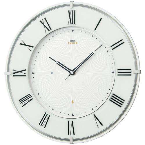 「スーパーセールポイント5倍」壁掛け時計 セイコー SEIKO 電波時計 エンブレム EMBLEM HS542W 文字入れ対応《有料》 送料無料 取り寄せ品
