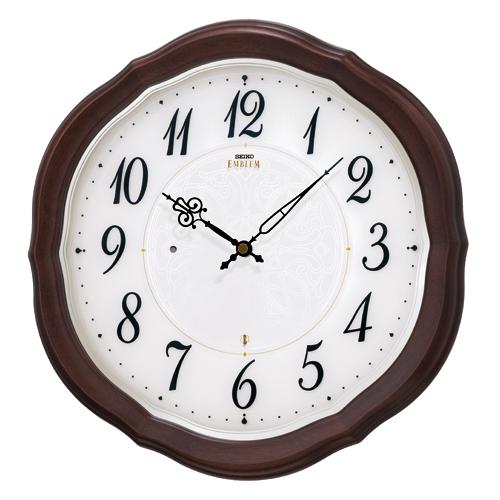 「スーパーセールポイント5倍」壁掛け時計 セイコー SEIKO 電波時計 エンブレム EMBLEM HS544B 文字入れ対応《有料》 送料無料 取り寄せ品