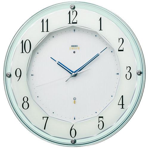 暗くなると秒針を止め 音がしない 壁掛け時計 連続秒針 セイコー SEIKO 電波時計 エンブレム EMBLEM HS546S 文字入れ対応《有料》 送料無料 取り寄せ品