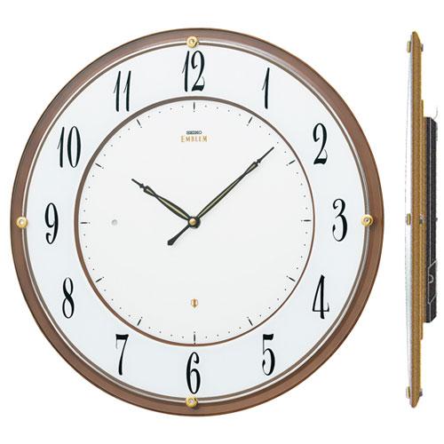 壁掛け時計 セイコー SEIKO 電波時計 エンブレム EMBLEM HS548B 文字入れ対応《有料》 送料無料 取り寄せ品