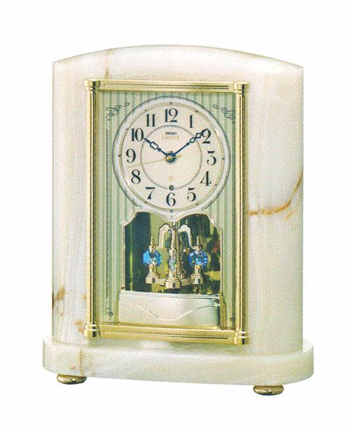 オニキス枠 置き時計 セイコー SEIKO エンブレム電波時計 文字入れ対応《有料》 取り寄せ品 EMBLEM HW521M 高価値 送料無料 新登場
