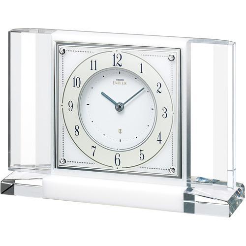 「スーパーセールポイント5倍」置き時計 セイコー SEIKO エンブレム EMBLEM HW564W 文字入れ対応《有料》 送料無料 取り寄せ品