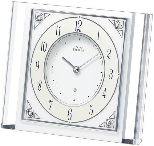 「スーパーセールポイント5倍」置き時計 セイコー SEIKO エンブレム EMBLEM HW565W 文字入れ対応《有料》 送料無料 取り寄せ品