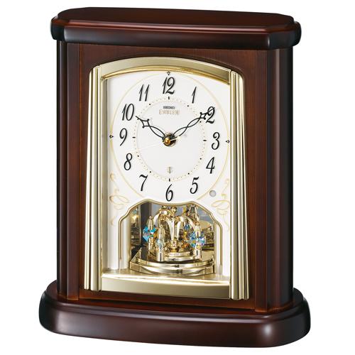 置き時計 セイコー SEIKO エンブレム電波時計 EMBLEM HW582B 文字入れ対応《有料》 送料無料 取り寄せ品