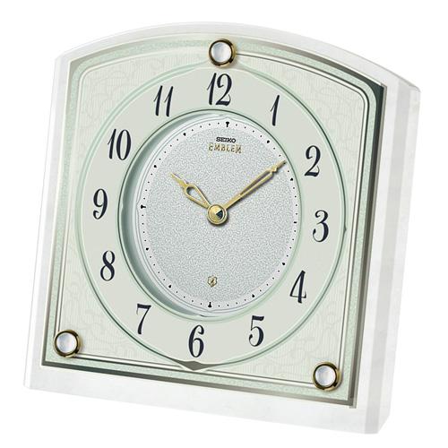 置き時計 セイコー SEIKO エンブレム EMBLEM HW588W 文字入れ対応《有料》 送料無料 取り寄せ品