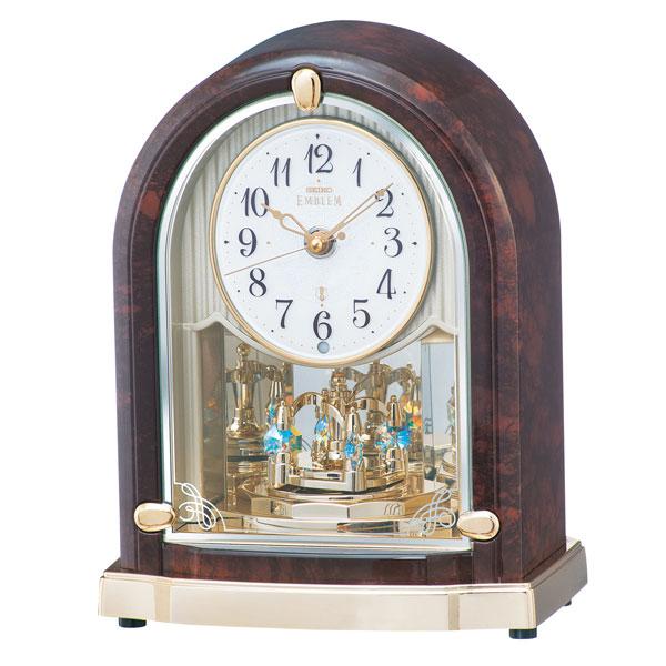 「スーパーセールポイント5倍」メロディ置き時計 HW591B セイコー SEIKO エンブレム電波時計 EMBLEM 文字入れ対応、有料 取り寄せ品