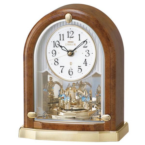 「スーパーセールポイント5倍」置き時計 HW592B セイコー SEIKO エンブレム電波時計 EMBLEM 文字入れ対応、有料 取り寄せ品