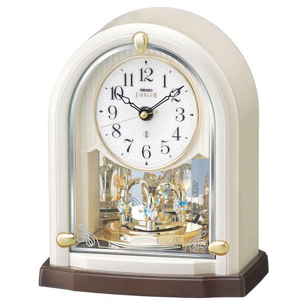 「スーパーセールポイント5倍」置き時計 HW593W セイコー SEIKO エンブレム電波時計 EMBLEM 文字入れ対応、有料 取り寄せ品