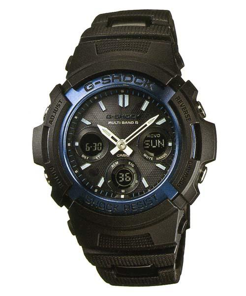 「マラソンポイント5倍」カシオ G-SHOCK ジーショック 電波ソーラー BLACK/BLUE メンズ腕時計 AWG-M100BC-2AJF 国内正規品 刻印対応、有料 取り寄せ品 【コンビニ受取対応商品】