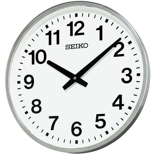 「スーパーセールポイント5倍」セイコー 屋外・防雨型かけ時計 オフィスクロックKH411S 取り寄せ品
