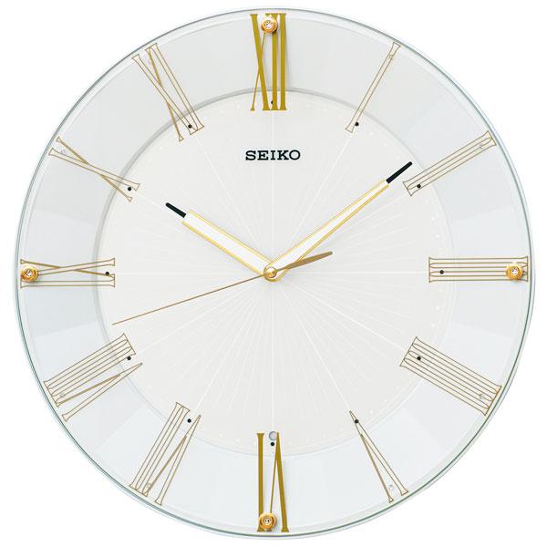 「スーパーセールポイント5倍」暗くなると秒針を止め 音がしない 壁掛け時計 電波時計 掛時計 KX214H セイコー SEIKO スイープ 文字入れ対応、有料