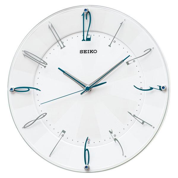 「スーパーセールポイント5倍」暗くなると秒針を止め 音がしない 壁掛け時計 電波時計 掛時計 KX214W セイコー SEIKO スイープ 文字入れ対応、有料