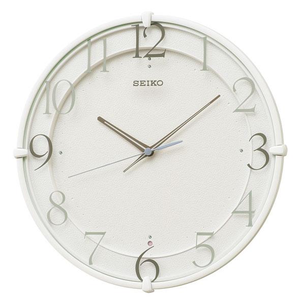 暗くなると秒針を止め 音がしない 壁掛け時計 電波時計 掛時計 KX215W セイコー SEIKO スイープ 文字入れ対応、有料 取り寄せ品
