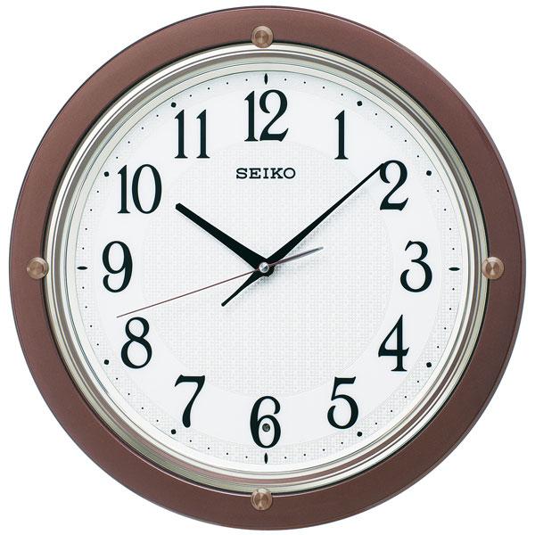 「スーパーセールポイント5倍」暗くなると秒針を止め 音がしない 壁掛け時計 KX217B 電波時計 掛時計 セイコー SEIKO 文字入れ対応、有料