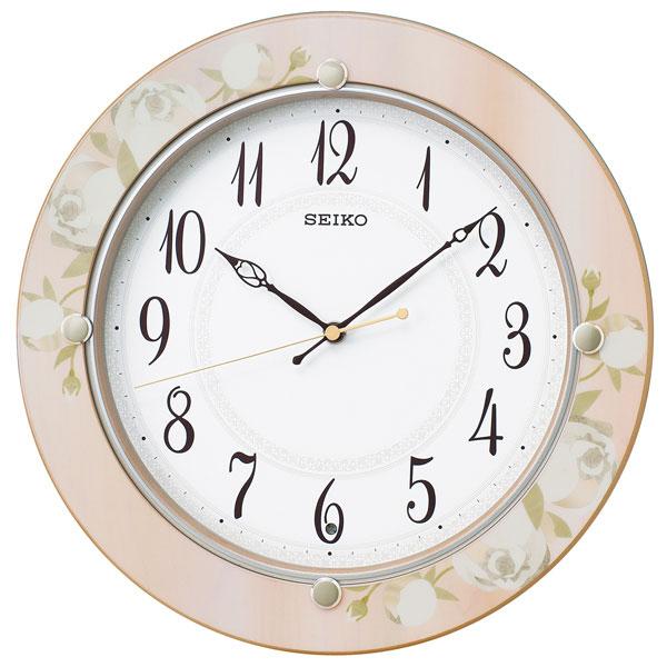 「スーパーセールポイント5倍」暗くなると秒針を止め 音がしない 壁掛け時計 KX220P 電波時計 掛時計 セイコー SEIKO 文字入れ対応、有料 取り寄せ品