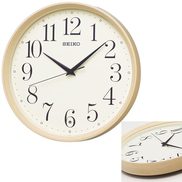 「スーパーセールポイント5倍」暗くなると秒針を止め 音がしない 壁掛け時計 KX222A 電波時計 掛時計 セイコー SEIKO 文字入れ対応、有料 取り寄せ品