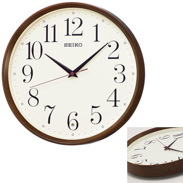 「スーパーセールポイント5倍」暗くなると秒針を止め 音がしない 壁掛け時計 KX222B 電波時計 掛時計 セイコー SEIKO 文字入れ対応、有料 取り寄せ品