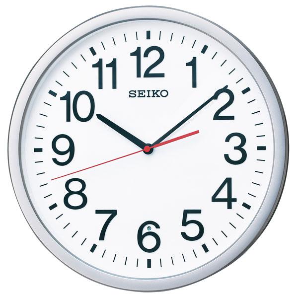 暗くなると秒針を止め 音がしない 壁掛け時計 KX229S 電波時計 掛時計 セイコー SEIKO 文字入れ対応、有料