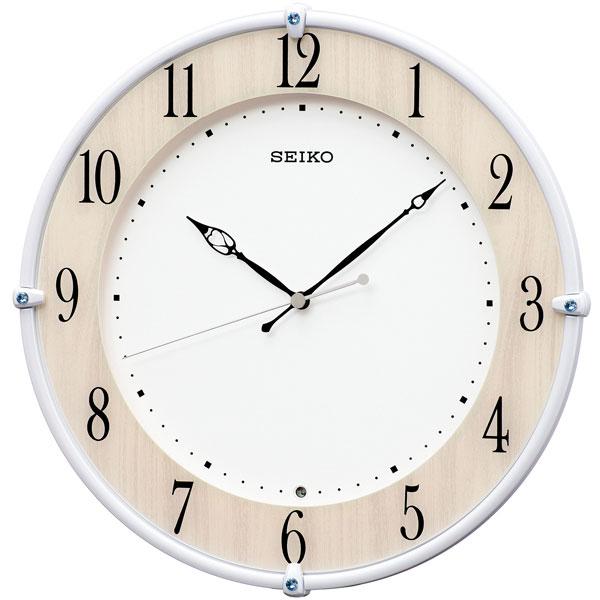 電波時計 壁掛け時計 KX242B スイープ 連続秒針 セイコー SEIKO プラスチック枠 【文字入れ対応、有料】 取り寄せ品