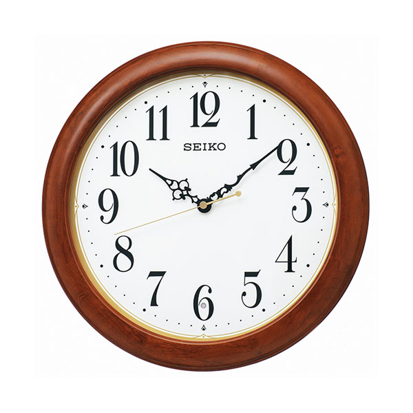 「スーパーセールポイント5倍」暗くなると秒針を止め 音がしない 壁掛け時計 KX246B 電波時計 セイコー SEIKO 文字入れ対応、有料 取り寄せ品