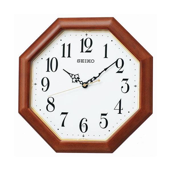 「スーパーセールポイント5倍」暗くなると秒針を止め 音がしない 壁掛け時計 KX247B 電波時計 セイコー SEIKO 文字入れ対応、有料 取り寄せ品