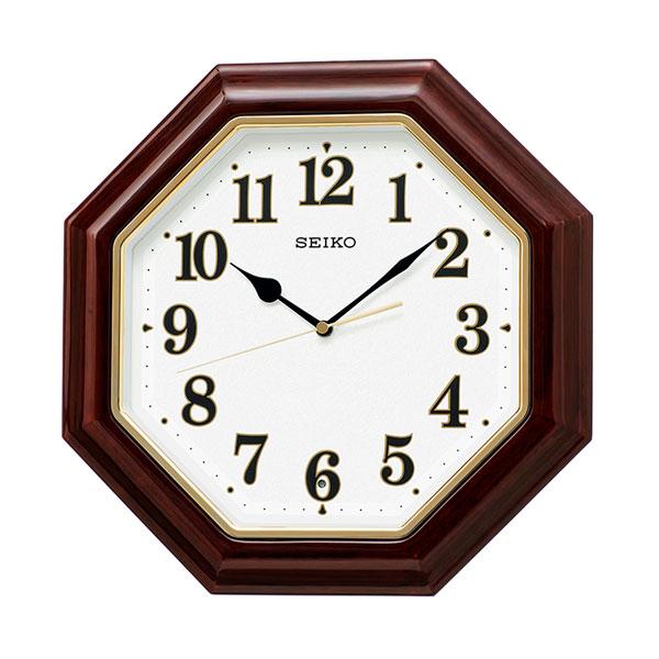 「スーパーセールポイント5倍」暗くなると秒針を止め 音がしない 壁掛け時計 KX251B 電波時計 セイコー SEIKO 文字入れ対応、有料 取り寄せ品