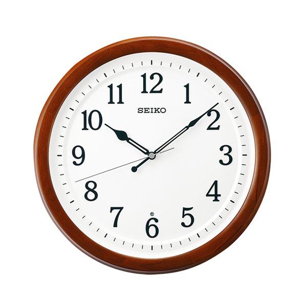 「20日21日限定ポイント5倍」暗くなると秒針を止め 音がしない 壁掛け時計 KX254B 電波時計 セイコー SEIKO 文字入れ対応、有料 取り寄せ品