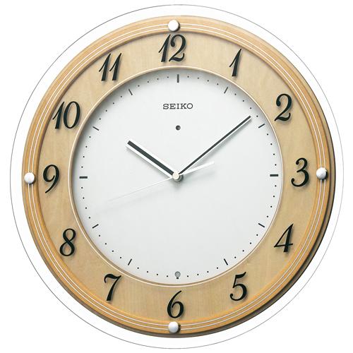 「スーパーセールポイント5倍」セイコー SEIKO 電波時計 壁掛け時計 暗くなると秒針を止め 音がしない 掛時計 連続秒針 KX321A 文字入れ対応《有料》 取り寄せ品