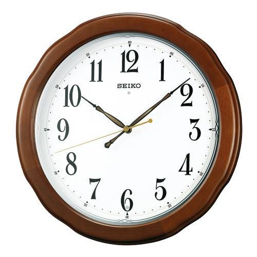 「スーパーセールポイント5倍」暗くなると秒針を止め 音がしない 電波時計 壁掛け時計 連続秒針 セイコー SEIKO 掛時計KX326B 文字入れ対応《有料》 取り寄せ品