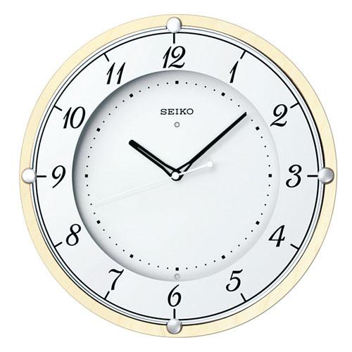 「スーパーセールポイント5倍」暗くなると秒針を止め 音がしない 電波時計 壁掛け時計 掛時計 連続秒針 KX373A セイコー SEIKO 文字入れ対応《有料》 取り寄せ品