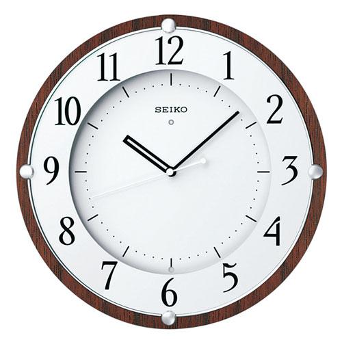 暗くなると秒針を止め 音がしない 電波時計 壁掛け時計 掛時計 連続秒針 KX373B セイコー SEIKO 文字入れ対応《有料》 取り寄せ品