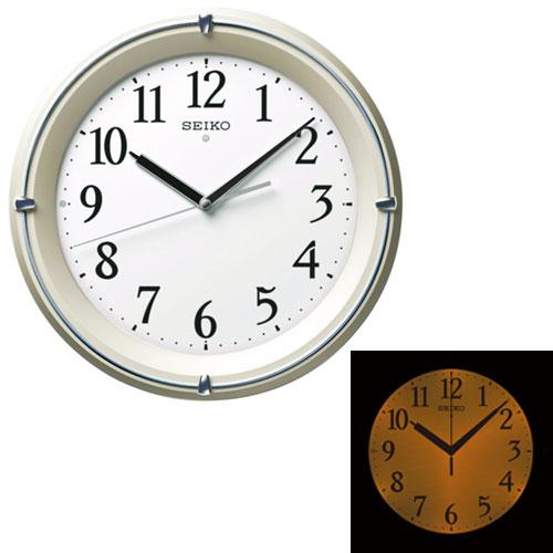 「スーパーセールポイント5倍」暗くなると光る壁掛時計 掛け時計 電波時計 KX381S セイコー SEIKO 文字入れ対応《有料》 取り寄せ品