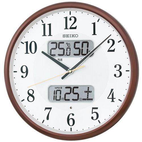 「スーパーセールポイント5倍」温度・湿度・デジタルカレンダー 電波時計 壁掛け時計 掛時計 KX383B セイコー SEIKO 文字入れ不可 【あす楽】