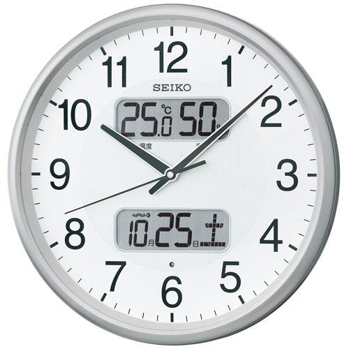 「スーパーセールポイント5倍」温度・湿度・デジタルカレンダー 電波時計 壁掛け時計 掛時計 KX383S セイコー SEIKO 文字入れ不可 【あす楽】