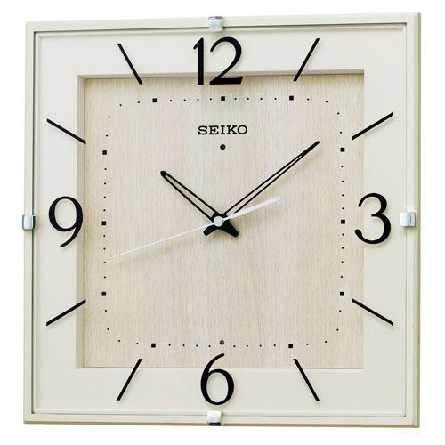 「スーパーセールポイント5倍」暗くなると秒針を止め 音がしない 壁掛け時計 掛時計 電波時計 四角 KX398A セイコー SEIKO 文字入れ不可 取り寄せ品