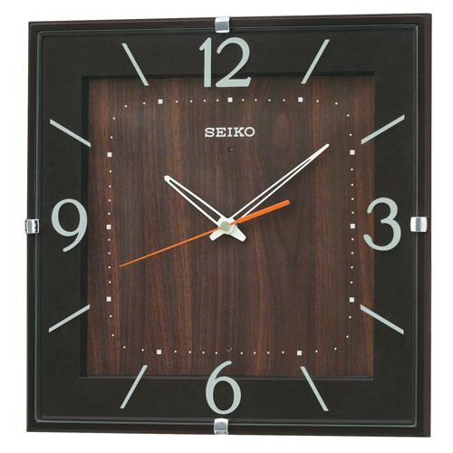 暗くなると秒針を止め 音がしない 壁掛時計 掛け時計 電波時計 四角 KX398B セイコー SEIKO 文字入れ不可 取り寄せ品