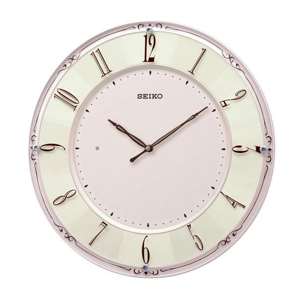 「スーパーセールポイント5倍」壁掛け時計 KX504P 電波時計 セイコー SEIKO 文字入れ対応、有料 取り寄せ品