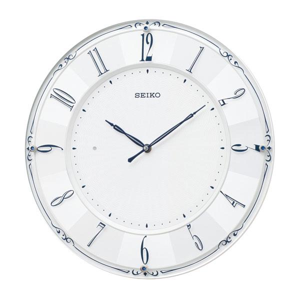 壁掛け時計 KX504W 電波時計 セイコー SEIKO 文字入れ対応、有料 取り寄せ品
