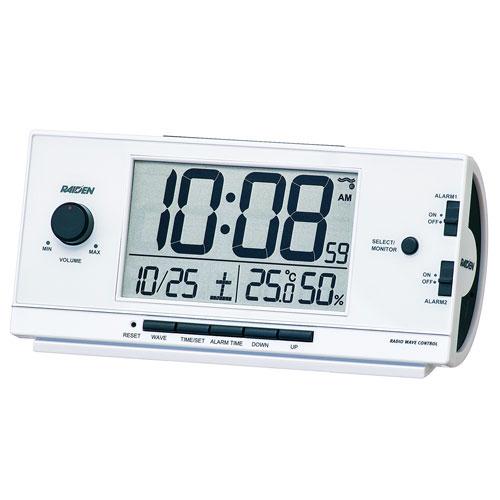 名入れ時計 文字入れ付き セイコー SEIKO 大音量の電子音アラーム音目覚まし時計 NR534W ライデン 取り寄せ品 【コンビニ受取対応商品】 代金引換不可